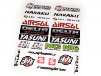 Sticker set -NARAKU / YASUNI / AIRSAL- 290x340mm, 22 pcs