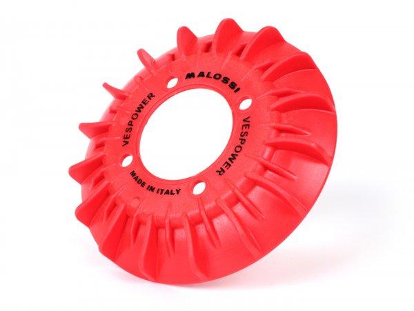 Ventilador para rotor volante -MALOSSI VesPower - 4 agujeros - para ref. Malossi 5515475, 5515610, 5515660, 5515684, 5515702