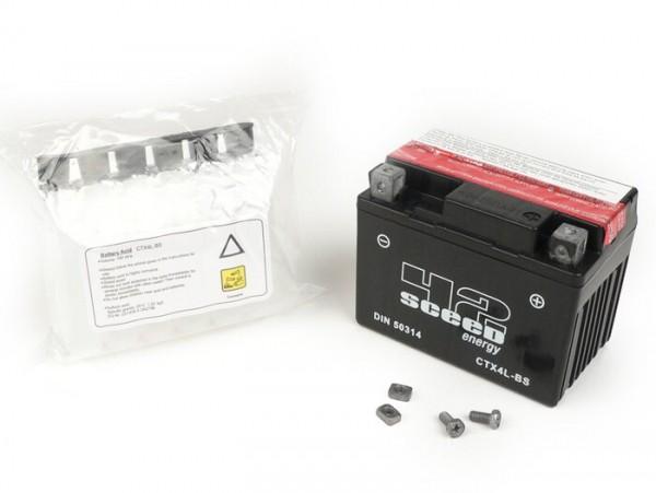 Battery -SCEED 42 Energy- YB4L-B- 12V 5Ah - 120x70x92mm - incl. battery acid pack (maintenance-free)