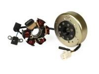Ignition -RMS stator- Peugeot 50 cc (horizontal, without immobiliser) - JETFORCE50 C-TECH, SPEEDFIGHT3 50 LC, LUDIX 50 LC BLASTER, SPEEDFIGHT3 50 cc AC (2T), LUDIX AC, VIVACITY 50 NEW (2T)