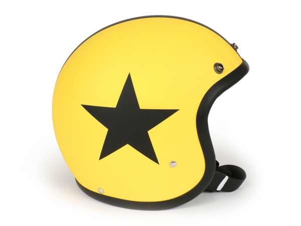 Helmet -DMD Jet Vintage- open face helmet, vintage - Star Yellow - M (57-58cm)