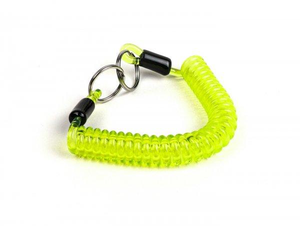 Schlüsselspirale - Schlüsselanhänger -MOTO NOSTRA- Länge 150mm - Grün