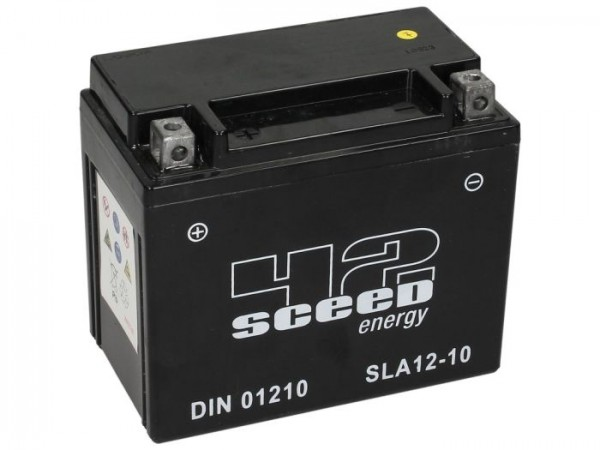Batterie -Gel SCEED 42 Energy- SLA12-10 - 12V, 10Ah - 152x88x131mm