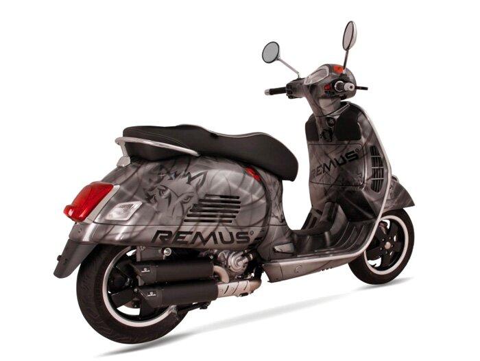 auspuff remus rsc dual flow vespa gts 125ie super vespa. Black Bedroom Furniture Sets. Home Design Ideas