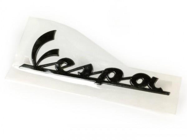 Schriftzug Seitenhaube -PIAGGIO- Vespa - Vespa PX, GT125, GT200, Vespa GTL125, GTL200, Vespa GTS125, GTS250, GTS300, Vespa GTV 125-300, Vespa LX50, LX125, LX150, Vespa LXV50, LXV125-150, Vespa S50, S125, S150 - anthrazit, selbstklebend (150x50mm)