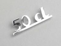Badge legshield -LAMBRETTA- 50CL - Lui 50