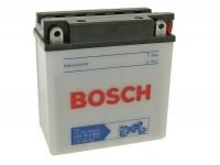 Batterie -Standard BOSCH 12N9-4B1 / YB9-B- 12V 9Ah -135x75x139mm (inkl. Säurepack) - Vespa Cosa 200, PX Lusso Elestart, Vespa S 50, ET4 125cc, Gilera Runner FX 125, Piaggio Hexagon, NRG, Skipper, TPH125, X9