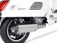 Pot d'échappement -REMUS (avec catalyseur) Ø65mm Sportexhaust- Vespa GTS 300ie SUPER (ZAPMA33) - (Euro 4, 2016-) - inox argenté