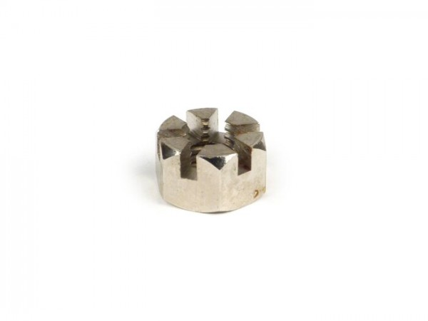 Castle nut for fork link -LAMBRETTA- Lambretta C, LC - Nickel plated