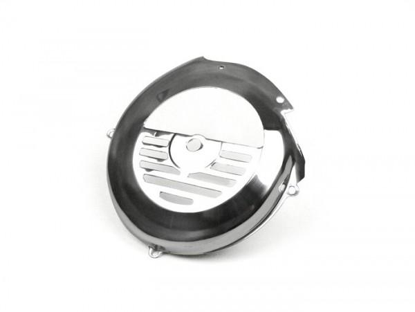 Lüfterradabdeckung -SPAQ- Vespa V50, PV125, ET3 - Edelstahl