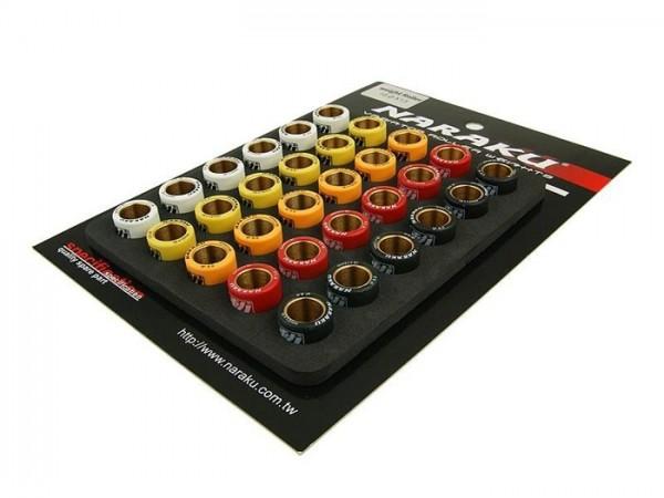 Roller set -NARAKU 16x13mm- 5.0g - 5.3g - 5.5g - 5.8g - 6.0g