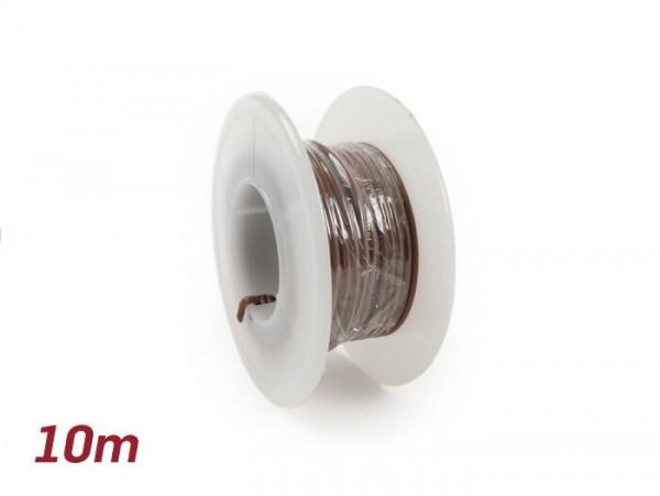 Câble électrique -UNIVERSEL 0,85mm²- 10m - brun