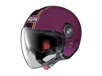 Helmet -NOLAN, N21 Visor Joie de Vivre- open face helmet, fuchsia kiss - M (57-58cm)