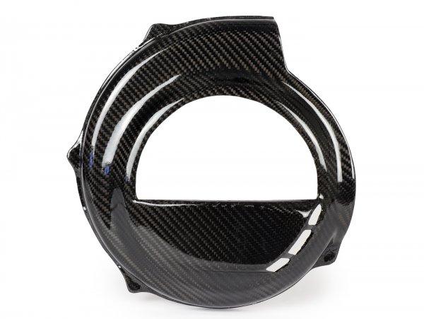 Lüfterradabdeckung -TOMAS COMPOSITI, Echtcarbon Race- Vespa PX80, PX125, PX150, PX200 - Modelle nur Kickstarter