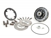 Clutch incl. primary drive set -BGM Pro Superstrong 2.0 CR80 Ultralube, type Cosa2/FL - primary gear BGM Pro 62 tooth (straight) - Vespa PX80, PX125, PX150, PX200, Cosa, T5, Sprint150 Veloce, Rally, GTR, TS125, Super150 (VBC) - 24/62 tooth (2.58)