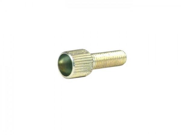 Tubo cable de gas -DELLORTO- M5x0,75 - 0° - con contratuerca
