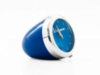 Horloge de table -RETRO Ø=4,3cm- Vespa, inspiré du phare - bleu