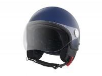 Casque -VESPA Visor 3.0- bleu métallisé (289A) -