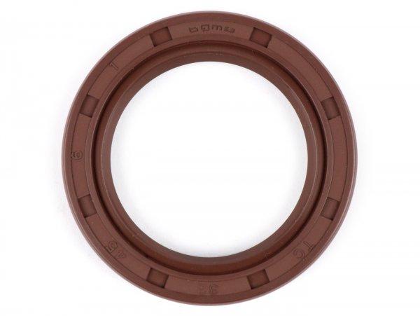 Retén 32x45x6mm -BGM PRO FKM/Viton® (resistente a E10)- (utilizado para rueda trasera Lambretta LI, LIS, SX, TV (Serie 2-3). DL, GP)