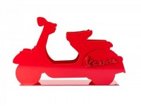 Mail holder -VESPA, metal- red