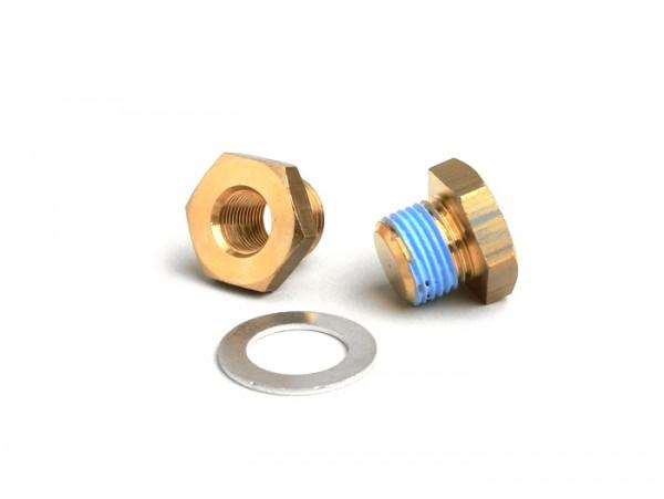 Adaptador termostato -TOP PERFORMANCES- Minarelli 50-70cc LC, Piaggio 50-70cc LC de 2 tiempos