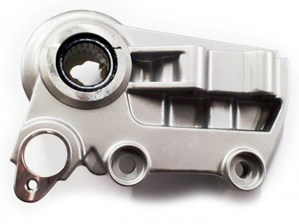 Bremsankerplatte - Bremszangenaufnahme vorne -PIAGGIO- Vespa GTS 125 (ZAPMA3100, ZAPMA3200, ZAPMA3700), Vespa GTS 150 (ZAPMA3200, ZAPMA3100), Vespa GTS 300 (ZAPMA3300), Vespa GTS HPE 300 (ZAPMA3600, ZAPMD310), Vespa GTS Super 125 (ZAPMA3100, ZAPMA320