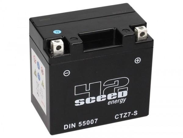 Batterie -Gel SCEED 42 Energy- CTZ7-S - 12V, 6Ah - 113x70x105mm
