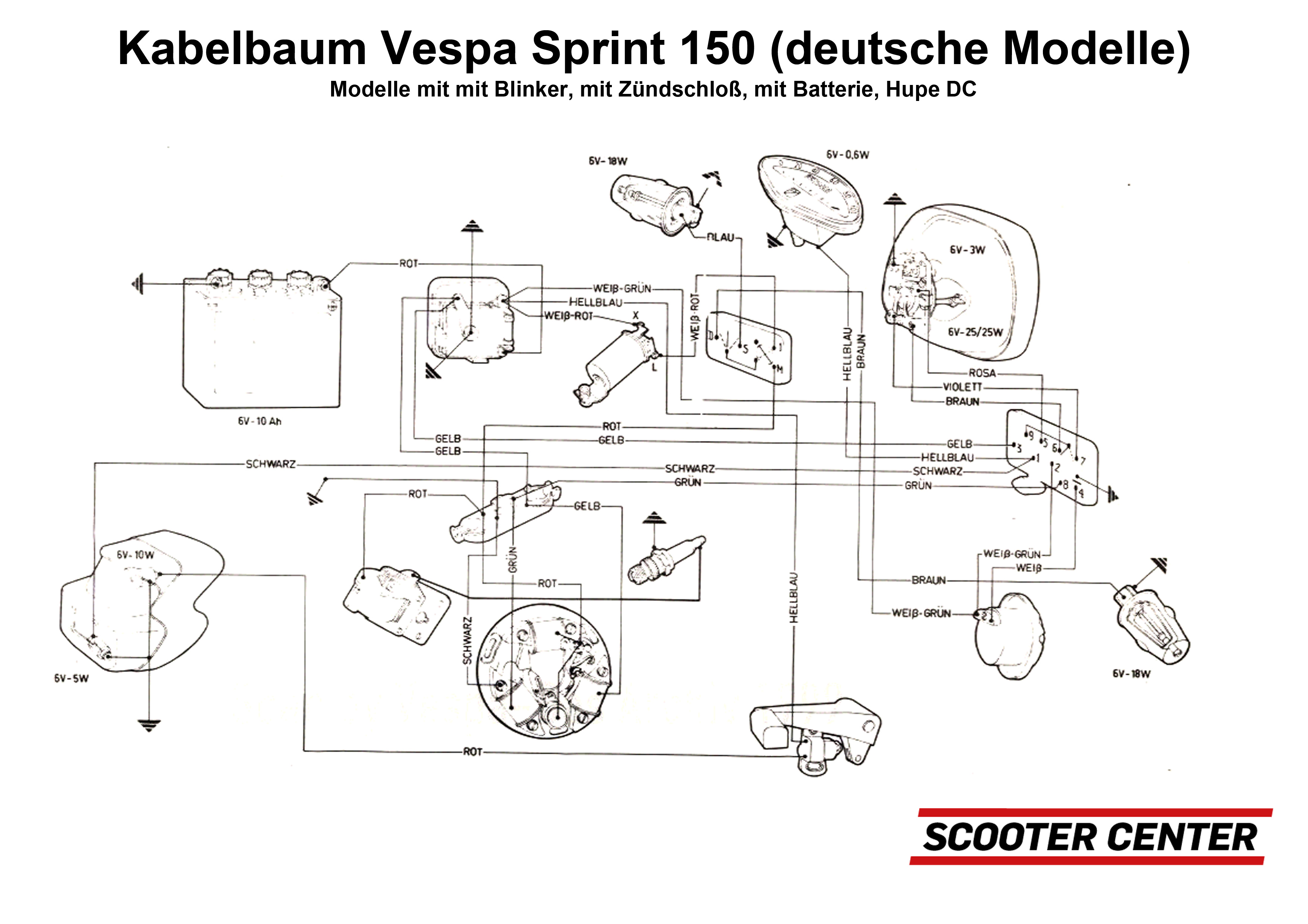Lambretta Bgm Wiring Diagram Best And Letter Vespatronic Plete Loom Pro Vespa Sprint150 German Versions