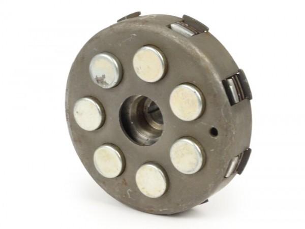 Embrague -MADE IN INDIA tipo 7 muelles (Ø=115mm)- para piñón elástico original de 67/68 dientes (dientes helicoidales) - 3 discos de embrague - 22 dientes