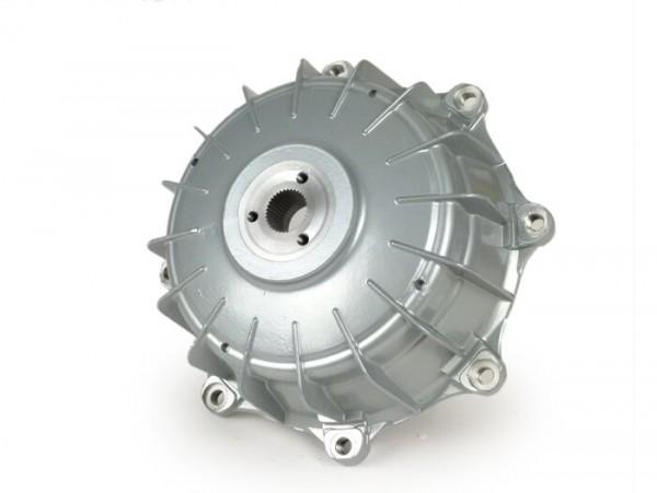 Tambor de freno trasero, tornillos tambor incl. -CASA PERFORMANCE Octopus Multispline- Lambretta LI (serie 3), LIS, SX, TV (serie 3), DL, GP - pintado plateado