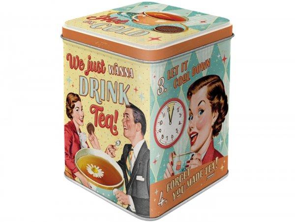 "Tea box -Nostalgic Art- ""Tea & Cookies Together"", 7,5 × 7,5× 9,5cm"
