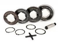 Gearbox (gear cogs only) -BGM PRO- Vespa PX EFL, Disc, My, 2011 (1984-) - PX125 (VNX2T 232053-, ZAPM), PX150 (VLX1T 624602-, ZAPM), PX200 (VSX1T 315267-), Cosa, T5 125cc, LML Star 2-stroke, Stella 2-stroke - 12/57, 13/42, 17/38, 21/36 teeth - 4th spe