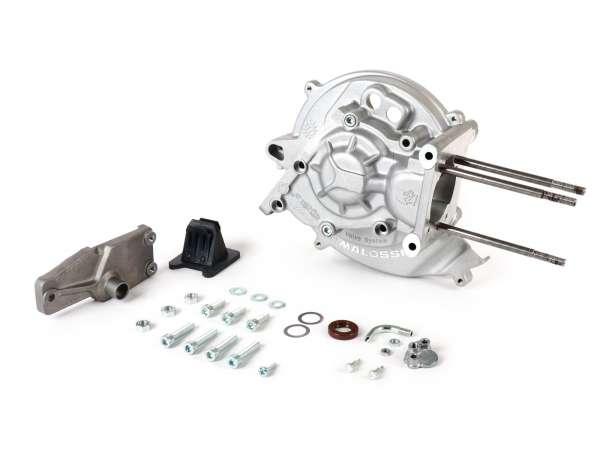 Motorgehäuse -MALOSSI MP-One, Membraneinlass, elektronische Zündung- Piaggio Ciao, Boss, Boxer, SI, Grillo, Bravo, Superbravo, PX