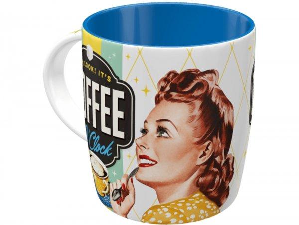 "Mug -Nostalgic Art- ""Coffee O' Clock"", Ø=85mm x 90mm, 340ml"