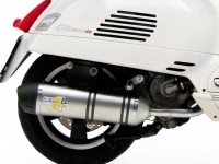 Exhaust -LEOVINCE SBK One Evo II slip-on- Vespa GTS 125-300 ie, Vespa GTV 250-300 ie - stainless steel