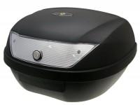 Topcase -101 OCTANE 51L- 320x595x440mm - nero - riflettore bianco