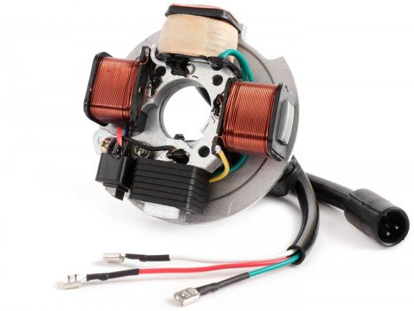 Encendido -CIF soporte bobinas completo 6V, 4 bobinas, conector de 4 pines- Vespa PK50 (V5X1T), PK50 S (V5X2T, 181679-), PK50 XL (V5X3T - modelos sin batería)