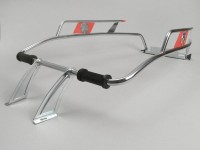 Sturzbügel hinten -AMS CUPPINI- Vespa V50, PV125, ET3 - Chrom / Rot