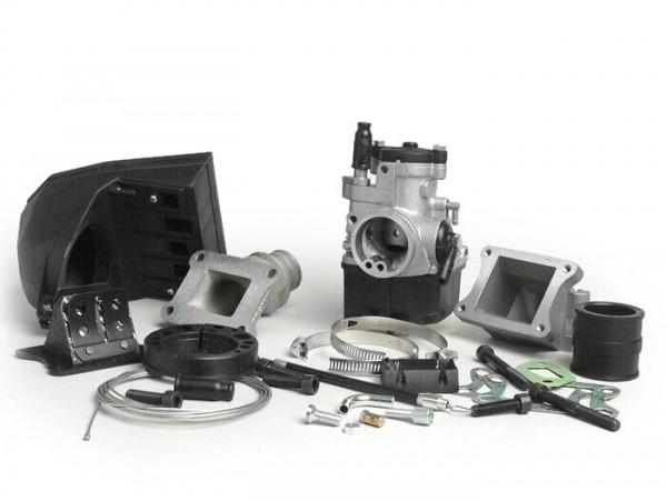 Carburator kit -MALOSSI 2-stud, 25mm Dellorto PHBL, reed valve- Vespa PK S
