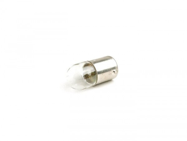 Light bulb -BA15s (straight pins) - 12V 5W - white