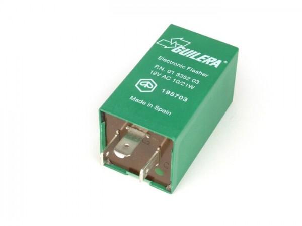 Relé de intermitencia -PIAGGIO 3 clavijas 12V 10/21W CA- Vespa PK S, PK XL, PK XL2, PX Iris (1984-), Cosa, Cosa FL, T5 125cc, APE