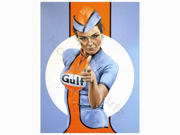 """Aufkleber -103 x 78mm- """"Gulf Pin Up"""""""