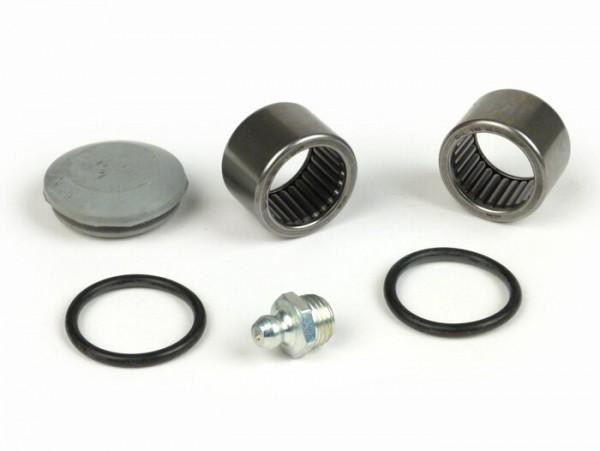 Schwingenlagersatz -VESPA- V50, ET3, PV125 - inkl. O-Ringe, Gummikappe für Tachoantrieb und Schmiernippel
