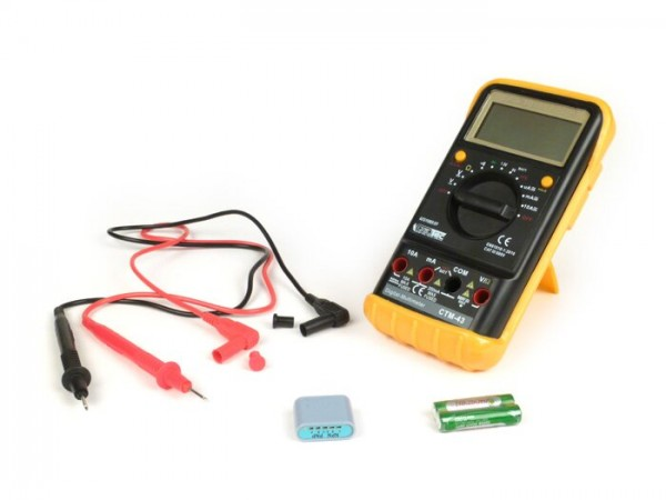 Digital multimeter -CTM-43 Big 2V-600V- with rubber holster, acustic continuity tester and hold function