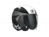 Helm -SPEEDS Jet City - schwarz/weiss - S (55-56 cm)
