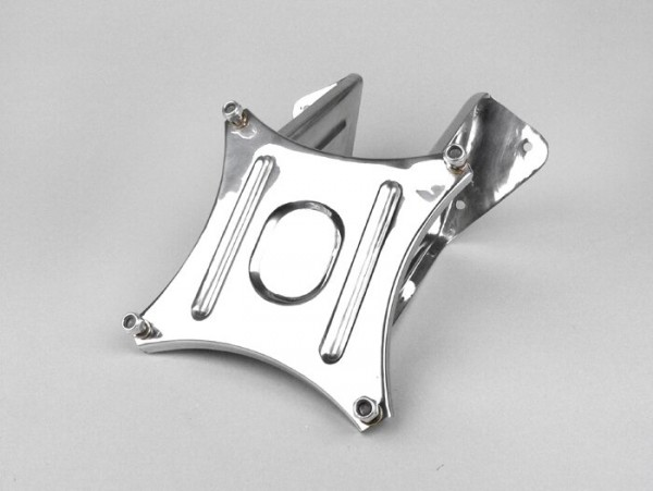 Spare wheel carrier front -SPAQ- Lambretta LI (series 3), LIS, SX, TV (series 3), DL, GP - stainless steel