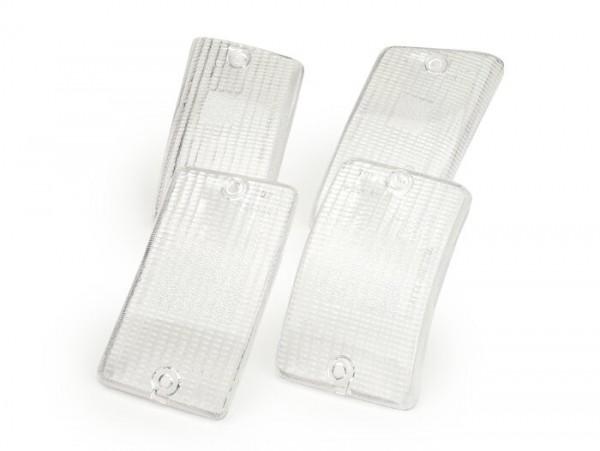 Blinkergläser -BOSATTA 4er Set- Vespa PK50 XL, PK125 XL - Weiss
