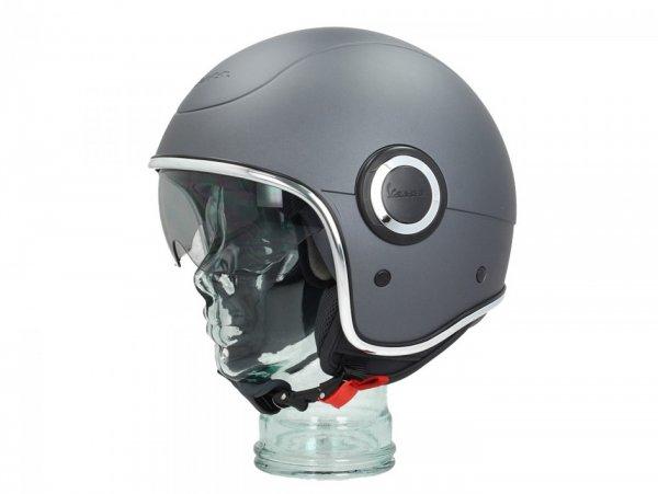 Helmet -VESPA VJ1- open face helmet, Grigio Titanio (707/C) - XS (52-54cm)