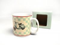 Mug -FORME- Vespa, checkered