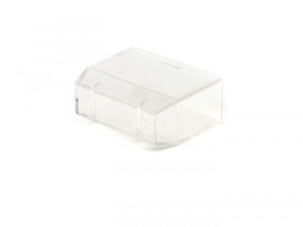 Kappe Sicherungskasten -PIAGGIO- transparent (verwendet für Sicherungskästchen mit 1x Flachstecksicherung)